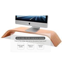 apple monitor stands - DHL Ship New Walnut Real Wood Stand Desktop Holder Bracket Birch for iMac Original SAMDI Holder for Apple PC Monitor
