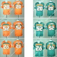 america football games - New Miami Ed Reed Ray Lewis Sean Taylor Hurricanes Game Elite Stitched America College Professinal Football Jersey Shirts Uniforms