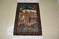 antique persian carpets - Good quality Iranian handmade silk carpet antique handknotted silk carpet