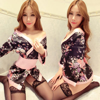 Wholesale 2016 sexy Japanese printing kimono cosplay out of the game temptation of uniforms suit ladies sexy lingerie mensao