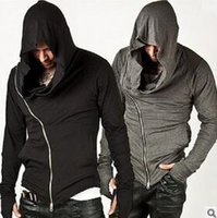 Wholesale New Stylish Unbeatable Arm Warmer Diagonal ZIP UP Mens Assassin Creed Hoodie Fashion Design For Men Sportswear Sweatshirt hight quality fre