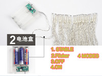 Wholesale M ft led AA battery operated led copper wire string lights Fairy Lights for Christmas Wedding party decoration
