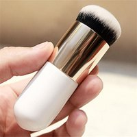badger cream - 2016 PC New Two colors Explosion models chubby pier foundation brush flat cream makeup brushes Professional CosmeFreeshipping