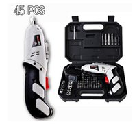 Wholesale power tools Household Cordless Reversible Rechargeable Drill Bit V Electric Screwdriver Power Driver Tool