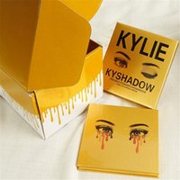 Wholesale 2016 Newest Gold Kylie Eyeshadow Kyshadow Kit Pressed Powder Eyeshadow The Bronze Palette Gold Edition Colors
