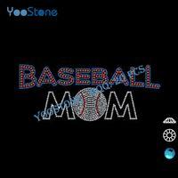 baseball mom t shirts - Popular Rhinestone Transfer Baseball Mom Iron On For Man T shirt pieces