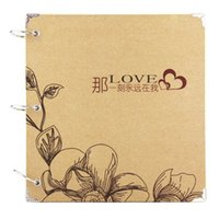 Wholesale handmade diy inch couple brown paper piece of paper sides love words present stickers love s photo album
