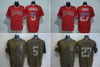 angels service - MLB Angels of Anahe jerseys baseball Jerseys Los Angeles PUJOLS TROUT Salute To Service Cowboy Banner Wave freeshipping