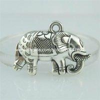 antique elephants - 15178 Alloy Antique Silver Vintage Animal Elephant Pendant Fashion