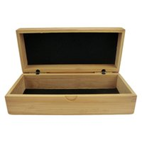 Wholesale Rectangle handmade Wood Grain Hard Eyewear Sunglasses Storage Clamshell Case Box Natural bamboo Frame Glasses Case Hot Selling