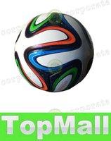 Wholesale LAI WORLD CUP BRAZUCA FINAL MATCH SOCCER BALL SIZE Brasil NEW Top Glider Match Ball Brazil soccer ball