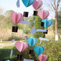 air balloon mobile - 3D Heart paper garland nursery mobile hot air balloon mobile kids room decor