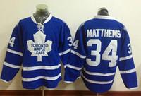 Wholesale New Maple Leafs Jerseys Matthews Jersey Draft Hockey Jerseys Blue Color Size Stitched High Quality Mix Order All Jerseys