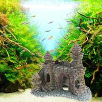 aquarium castle - New Cartoon Resin Castle Aquariums Castle Decoration Aquarium Fish Tank Tower