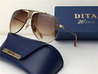 anniversary frame - DITA Decade two New th Anniversary Edition Sunglasses Women s Brand Designer Metal Square Men s Design Usher Oversized Gold Plated