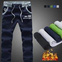 big men slacks - The new men s fashion boutique warm thick leisure Motion pants Men casual pants big yards Men trousers slacks