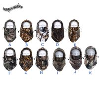 airsoft shooting - Outdoor Protection Airsoft Paintball Shooting Gear Full Face Polar Fleece Tactical Hunting Mask Hunting Bionic Camouflage Hood