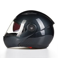 Wholesale 2016 New JIEKAI JK115 undrape face Motorcycle helmet open face motorbike helmets imitation carbon fiber size M L XL