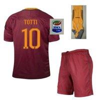 Wholesale A Quality Roma Jersey kit socks PJANIC DZEKO TOTTI DE ROSSI home away Associazione Sportiva Roma football Jersey