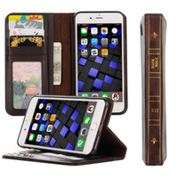 bible business - Luxury Retro Leather Wallet Case for iPhone plus S SE S plus Bible Vintage Book Business Folio Flip Wallet phone Cover
