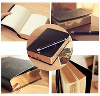 bible records - Creative Korea stationery thick black notebook diary book notepad retro golden Bible flaps