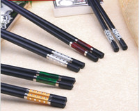 Wholesale 10 pair high grade alloy colored chopsticks chopsticks bamboo chopsticks hotel upscale tableware Mix Color