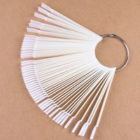 Wholesale New False Nail Art Tips Sets Sticks Board Fan Shape Display Tools Polish Gel Practice White Clear Transparent Decoration