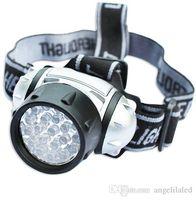 Wholesale LED Head Flashlight Head Lamp Head Flash Light Camping Headlight Lighting Torch Spotlight For Hunting For AAA