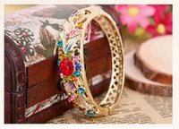 beijing bangles - Authentic old Beijing enamel cloisonne bracelet female gold plated palace restoring ancient ways of jewelry bracelet birthday present