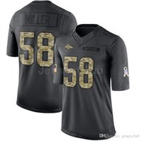 Wholesale Newest Cheap Limited Broncos Von Miller Black Admiral Salute To Service Stitched Embroidery Authentic Brand Football Jerseys