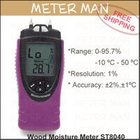 ambient light meter - Handheld with LCD Back light Wood Cement Concrete Moisture Content Ambient Temperature Meter Wood Moisture Meter ST8040
