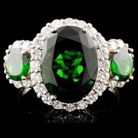 Wholesale 18K Gold ct Tsavorite ctw Diamond Ring