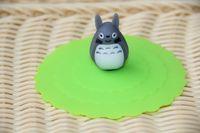 Wholesale DHL Shipping Free Cartoon Totoro Pokonyan Minions owl Elephant Panda Stitch Watertight Silicone Cup Lid Cover Mug Cap leakproof