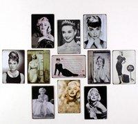 antique sign letters - Retro Metal Art Poster GIRL LETTERS Vintage Antique Metal Tin Signs Decor Home Club Bar Cafe Hotel SE33