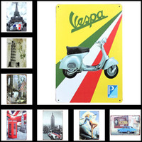 Wholesale Metal Tin Sign Posters Vintage Style Wall Ornament Garage Bars KTV Coffee Decor X30cm X11 in