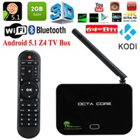 Wholesale Z4 Android TV BOX RK3368 bits Octa core GB GB G G AP6335 Dual Wifi Gigabit Lan K KODI Media Player iptv Set top Box