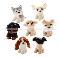 basset hound toys - Pc Cute Small Labrador Chihuahua Pug Rottweiler Basset hound Dog Soft Plush Stuffed Doll Toy Gift KTK