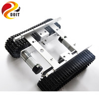 Wholesale metal tank chassis with Speed sensor creeper truck tracked smart car high torque motors and hall sensor crawler diy rc toy part