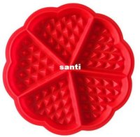 heart shape pan - Heart shaped Waffles Mold Cavity Bundt Oven Muffins Baking Mould Cake Pan Silicone Mold Tool