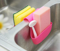 Wholesale Kitchen sink sponge receive drop hanging bags Saddle type basket and sundry drop multi colors HY1080