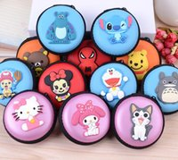 animate bag holders - NEW Fashion High quality Animated cartoon hero cat coin purse holder wallet hasp small gifts bag clutch handbag headset bag