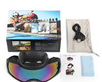 Wholesale Outdoor Sports Ski Glasses HD p Video Outdoor Sport Motorcycle Anti UV Anti Fog Snow Ski Skiing Goggles Glasses Camera