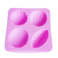 basketball cake decoration - M214 Soccer Basketball Football Tennis Ball Cake Mold Chocolate Mould Fondant Kitchen Baking Cake Tool Cake Decoration