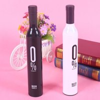 Wholesale Compact Automatic Fashion Wine Bottle Folding Anti UV Parasol Sun Rain Umbrella