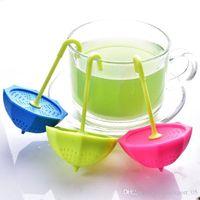 Wholesale Hot selling China Manufacturer High Standard Food Grade Cute Tea Strainer umbrella Silicone Tea Infuser