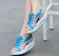 Cheap 2016 Ladies Platform Sandals Sandalias Summer New Fish Head Sandals Women Sandals Shoes Muffin Zapatos Mujer Wedges Sandalet HJIA382