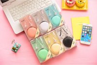 apple storage box - New Macarons Series In ear Earphones Headphones Headset IM800 For iPhone Xiaomi Huawei Headphone With Storage Box Can Answer Phones colors