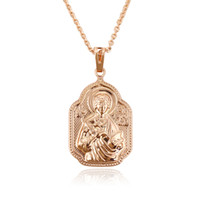Wholesale Virgin Mary Copper Necklace Pendant Rose Gold Color Religion Jewelry Chain Pendant From Xuping Brand Hot Sell For