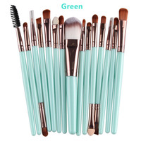 Wholesale 15Pcs Professional Make up Brushes Set Foundation Blusher Powder Eyeshadow Blending Eyebrow Makeup Brushes