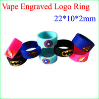 Vape Silicone ring   Silicone Non-slip Ring Vape Mod Ring for Mechanical Mod RDA RTA RBA and glass Tank 22mm Non Slip Rubber band fashion decorative
